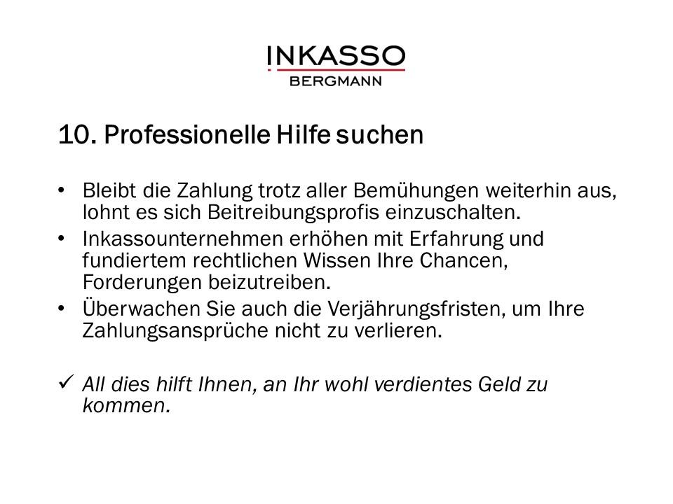 10. Professionelle Hilfe suchen